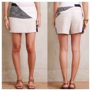 Anthropologie Elevenses tweed patch skort size 4